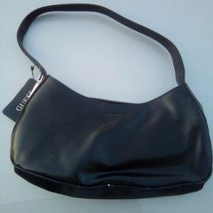 New Guess vtg black leather shoulder bag